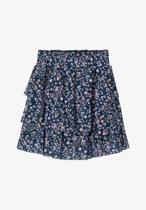 BLUMENPRINT  - A-line skirt - darkest spruce