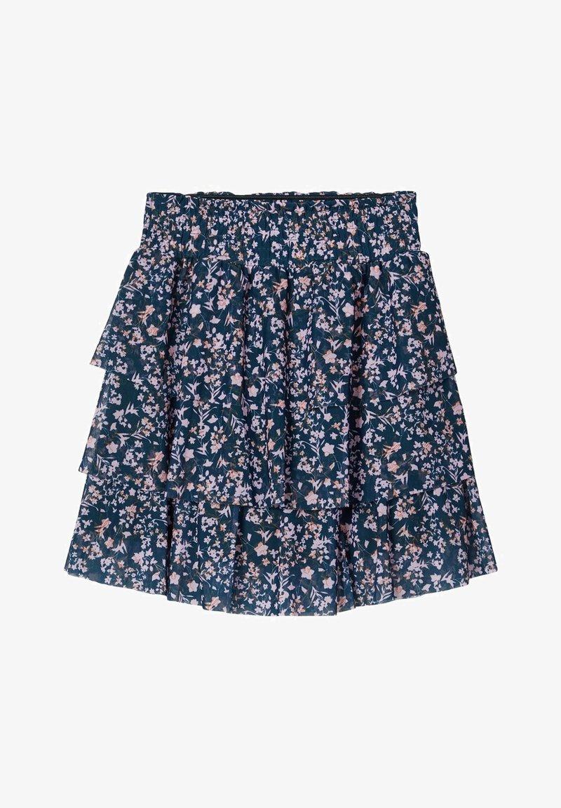 Name it - BLUMENPRINT  - A-line skirt - darkest spruce
