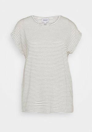 VMAVA PLAIN REBEC STRIPE  - Print T-shirt - snow white/night sky