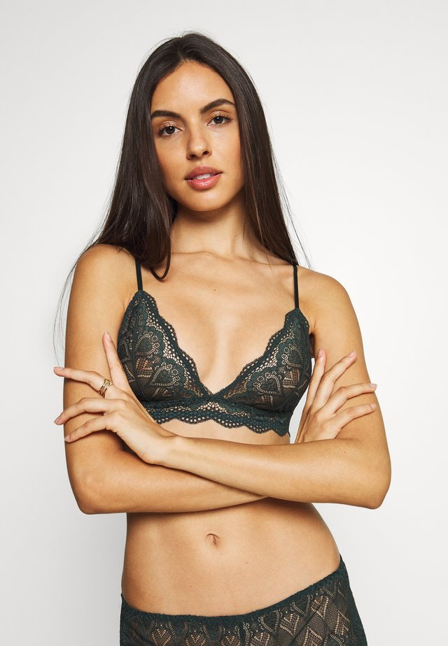 MARILYN BRA - Triangle bra - darkest spruce