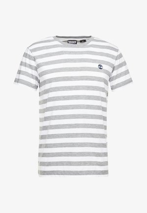 STRIPED TEE - Print T-shirt - medium grey heather