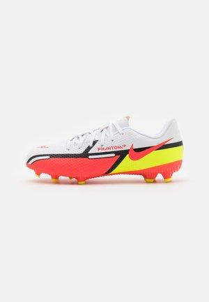 JR. PHANTOM GT2 ACADEMY UNISEX - Chaussures de foot à crampons - white/bright crimson/volt