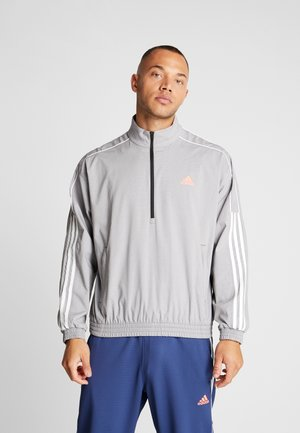 3 STRIPE COLLECTION JACKET - Sportovní bunda - grey melange