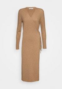 pure cashmere - WRAP DRESS - Jumper dress - dark beige - 0