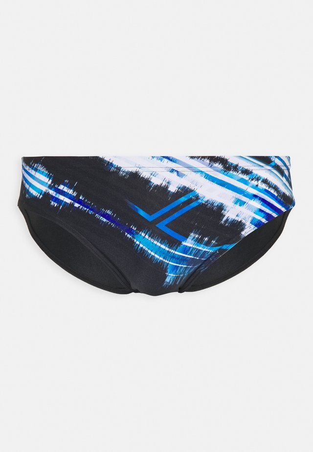 INFINITE STRIPE BRIEF - Plavky slipy - black/neon blue/multi