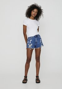 PULL&BEAR - Shorts di jeans - blue - 1