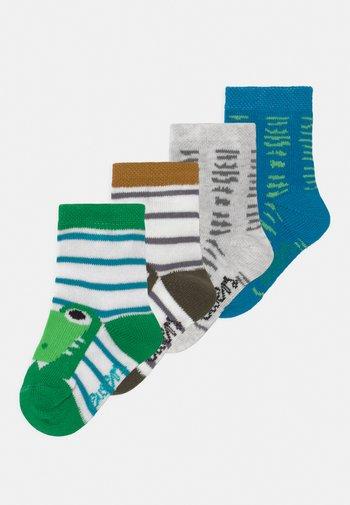 CRODODILE 4 PACK - Socks - blue/green