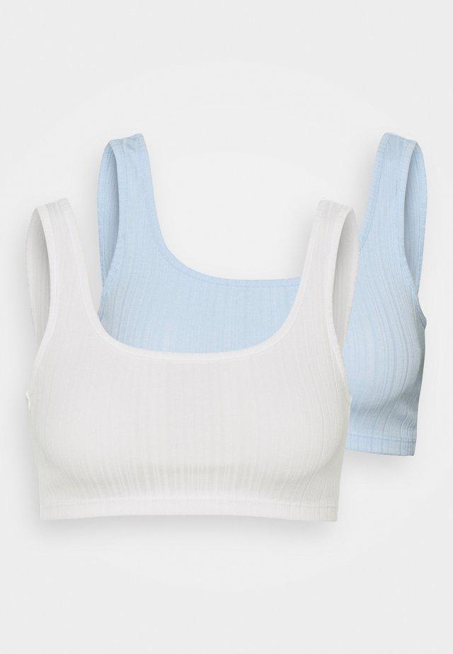 FATIMA SHORT 2 PACK - Topper - white light/light blue