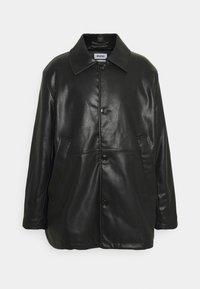 Weekday - UNISEX NELSON COAT - Faux leather jacket - black - 0