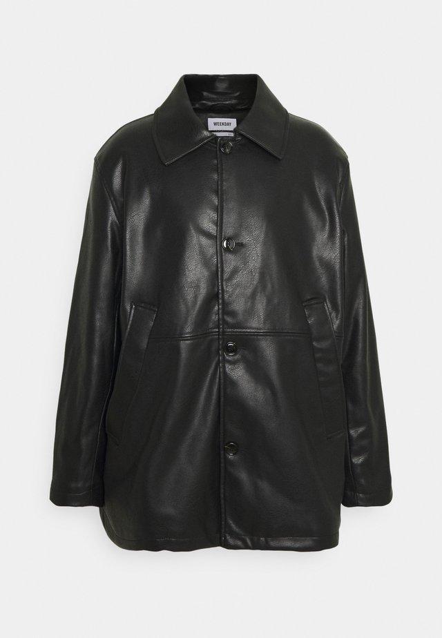 UNISEX NELSON COAT - Imitatieleren jas - black