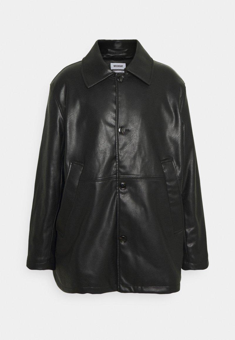 Weekday - UNISEX NELSON COAT - Faux leather jacket - black