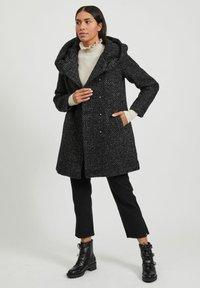 Vila - Classic coat - medium grey melange - 1