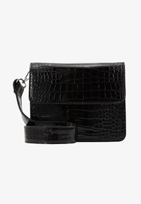 HVISK - CAYMAN SHINY STRAP BAG - Schoudertas - black - 1