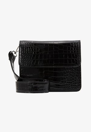 CAYMAN SHINY STRAP BAG - Axelremsväska - black