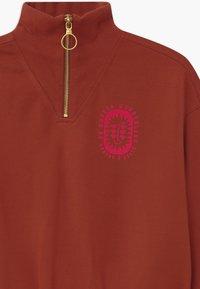 Scotch & Soda - HALF-ZIP SMALL ARTWORK - Long sleeved top - brick - 2