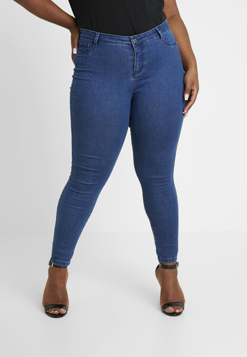 Missguided Plus - ANARCHY MID RISE - Jeans Skinny Fit - indigo