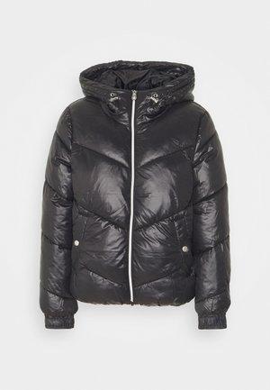 ONLHOLLY HOODED PUFFER JACKET - Light jacket - black