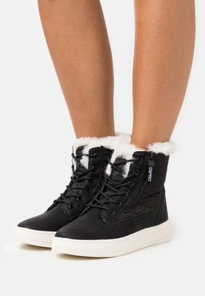 CAMBRIDGE  - Lace-up ankle boots - black