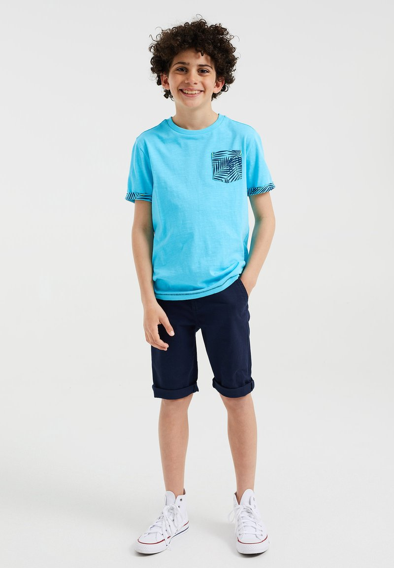 WE Fashion - 2 PACK - T-shirt con stampa - light blue