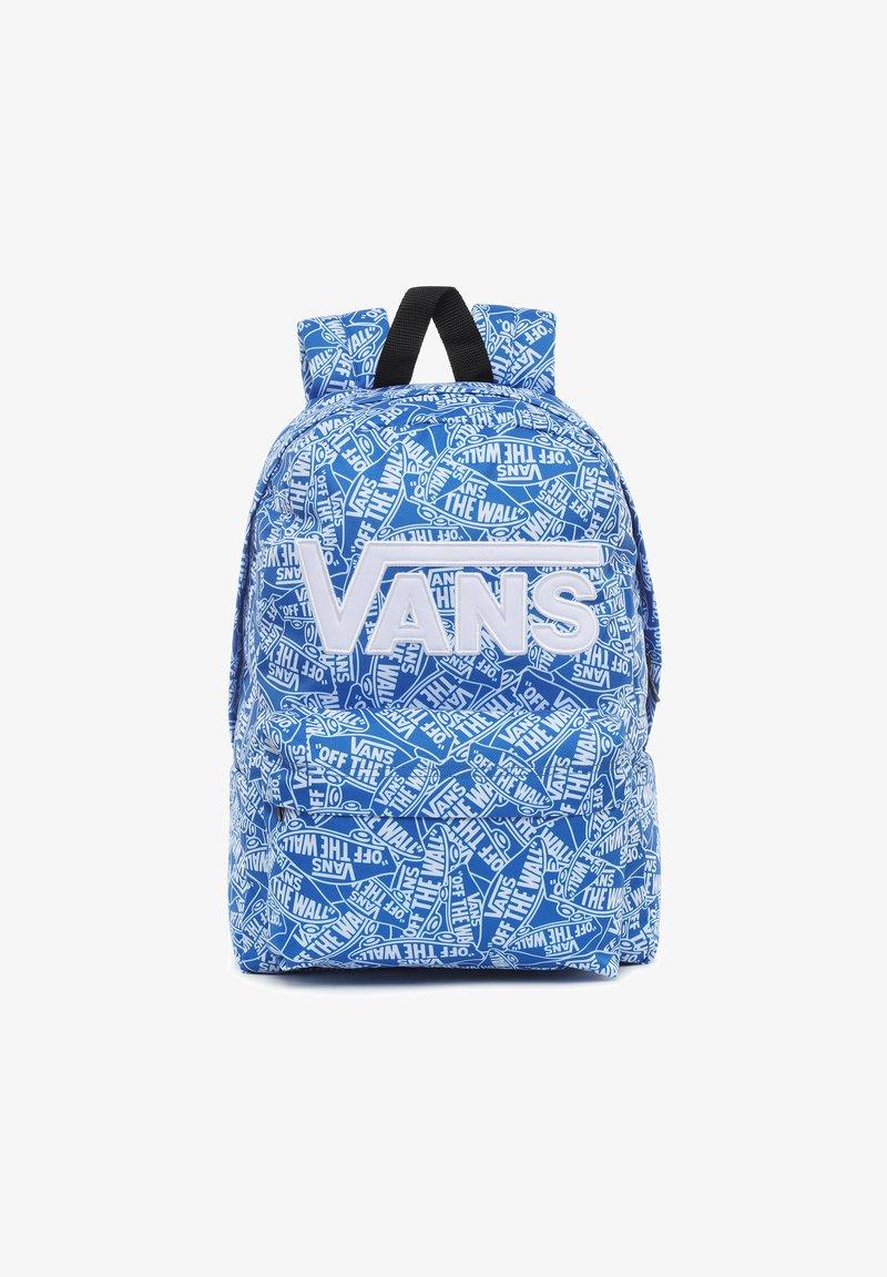 Vans - UY NEW SKOOL BACKPACK BOYS - Rugzak - white-victoria blue