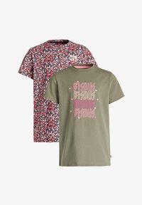 WE Fashion - MEISJES MET OPDRUK, 2-PACK - Print T-shirt - multi-coloured - 2