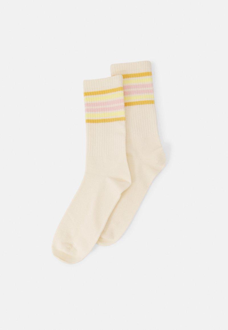Monki - Socks - off white/yellow