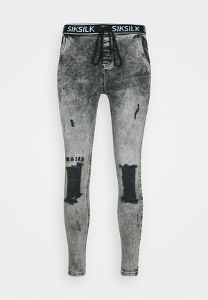 DISTRESSED - Skinny džíny - snow wash