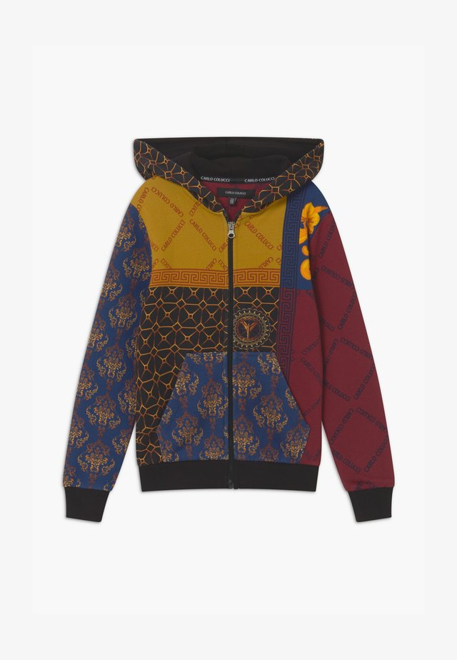 HOOD UNISEX - Hettejakke - yellow/royal/bordeaux