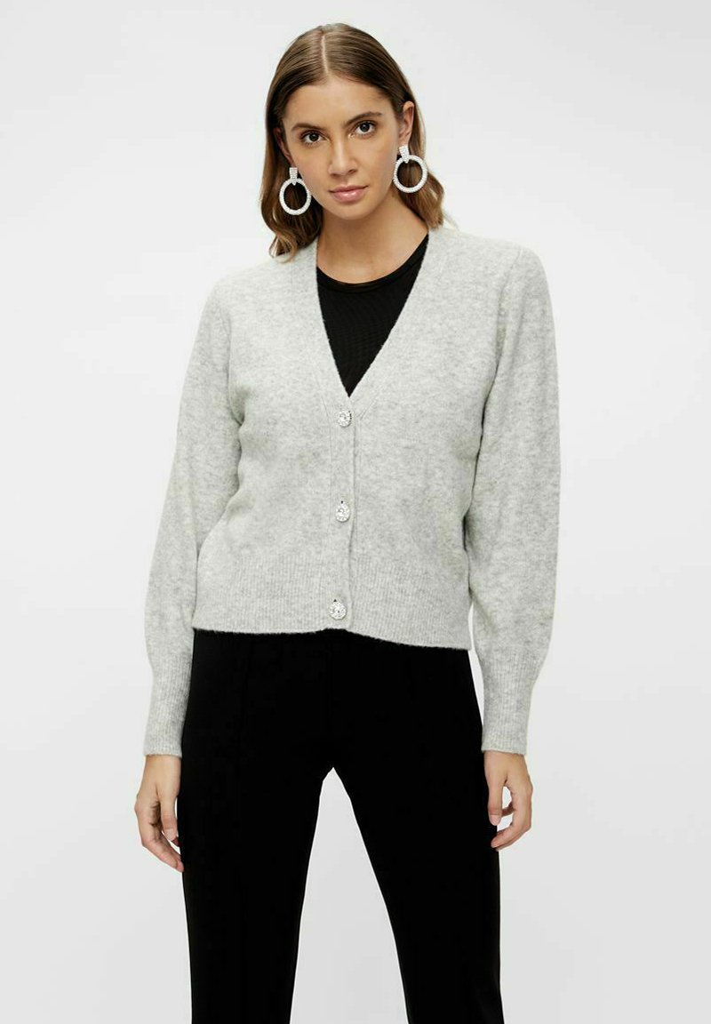 YAS - Cardigan - light grey melange