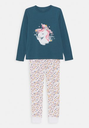 NKFNIGHTSET UNICORN SET - Pyjama set - real teal