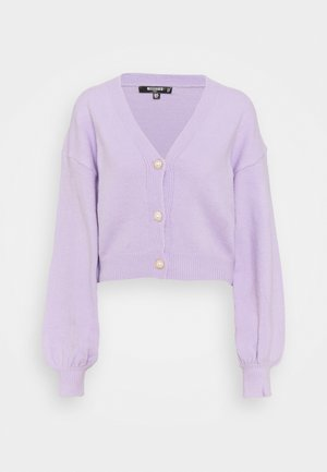 SOFT TOUCH BUTTON - Cardigan - lilac