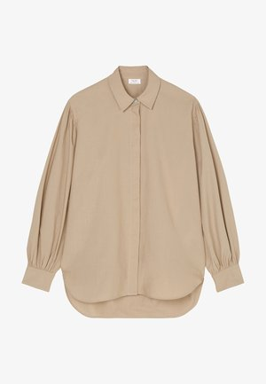 GATHERING AT SLEEVE LONGSLEEVE - Button-down blouse - rocky road