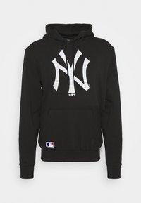New Era - NEW YORK YANKEES MLB INFILL LOGO HOODY - Squadra - black - 3