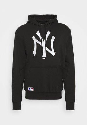 NEW YORK YANKEES MLB INFILL LOGO HOODY - Club wear - black