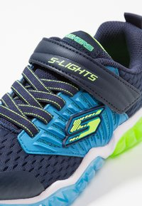 Skechers - RAPID FLASH - Tenisky - navy/blue/lime - 5