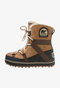 Sorel - GLACY EXPLORER SHORTIE - Zimní obuv - light brown - 1