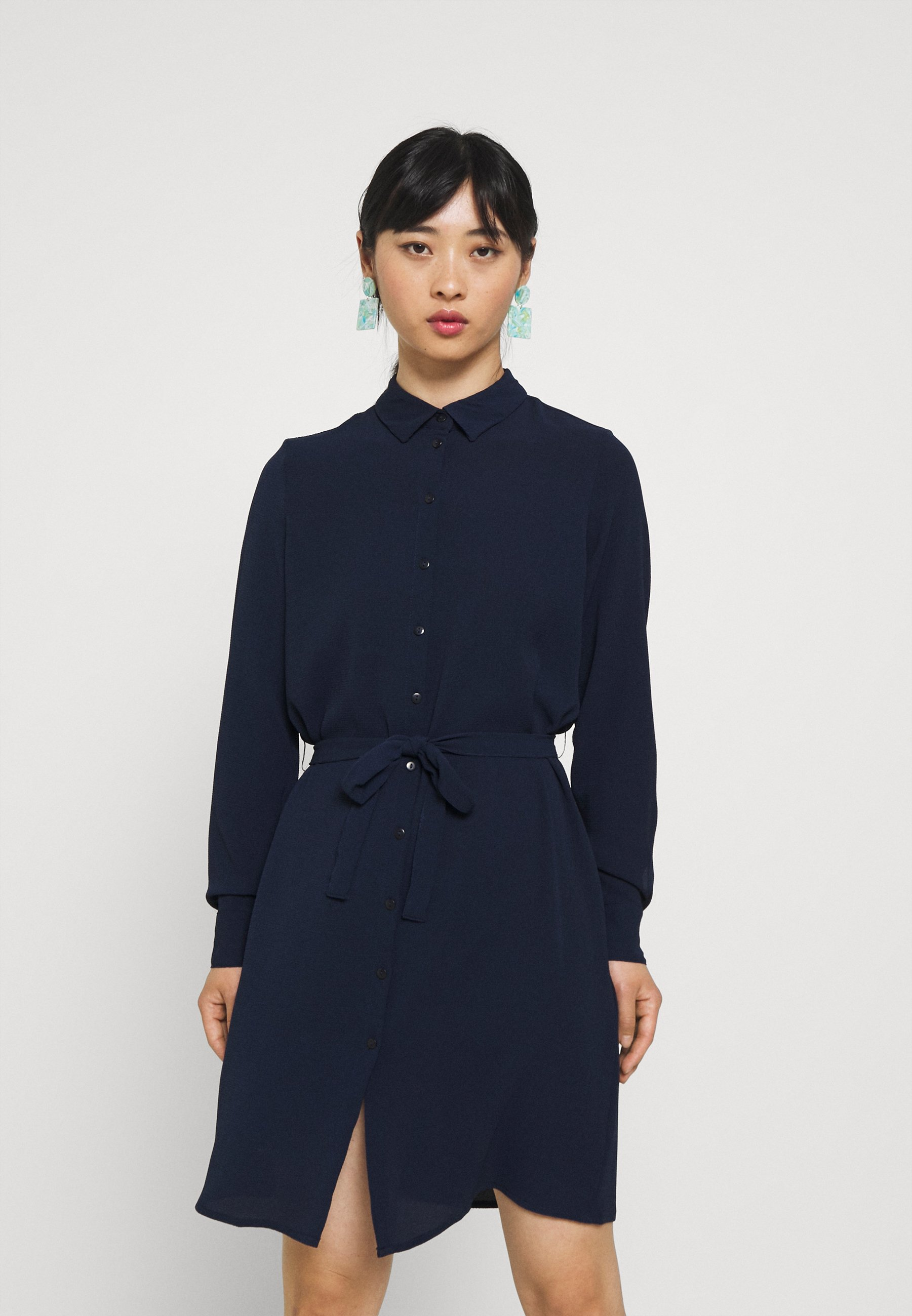 Mujer VMSAGA COLLAR SHIRT DRESS PETITE - Vestido camisero