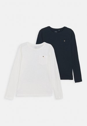 NKMVEBBE 2 PACK - Long sleeved top - snow white