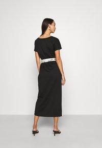 Never Fully Dressed - BLACK ZEBRA LOUNGE WRAP DRESS - Day dress - black - 2