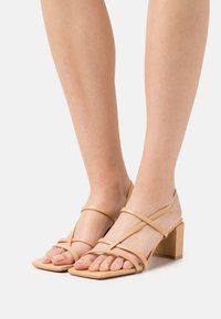 NA-KD - T-bar sandals - beige - 0