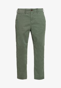 GAP Petite - HIGH RISE STRAIGHT - Trousers - olive - 3