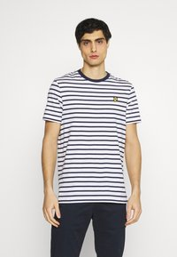 Lyle & Scott - BRETON STRIPE - T-shirt med print - navy/white - 0