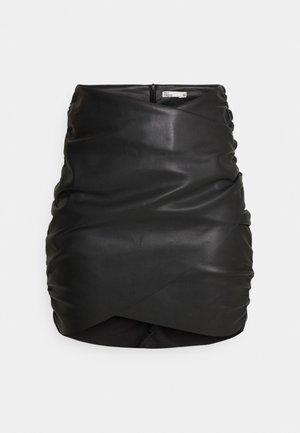 DRAPED SKIRT - Minisukně - black