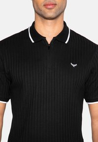 Threadbare - WARD - Polo shirt - black rib - 3