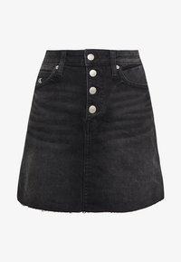 Calvin Klein Jeans - MID RISE MINI SKIRT - Jeansskjørt - black shank - 4