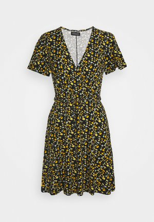 Day dress - black/yellow/blue