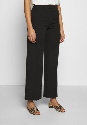 WIDE LEG TROUSER - Trousers - black