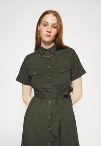 Dorothy Perkins - MIDI SHIRT DRESS - Košilové šaty - khaki - 3