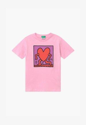 FUNZIONE - Triko spotiskem - light pink