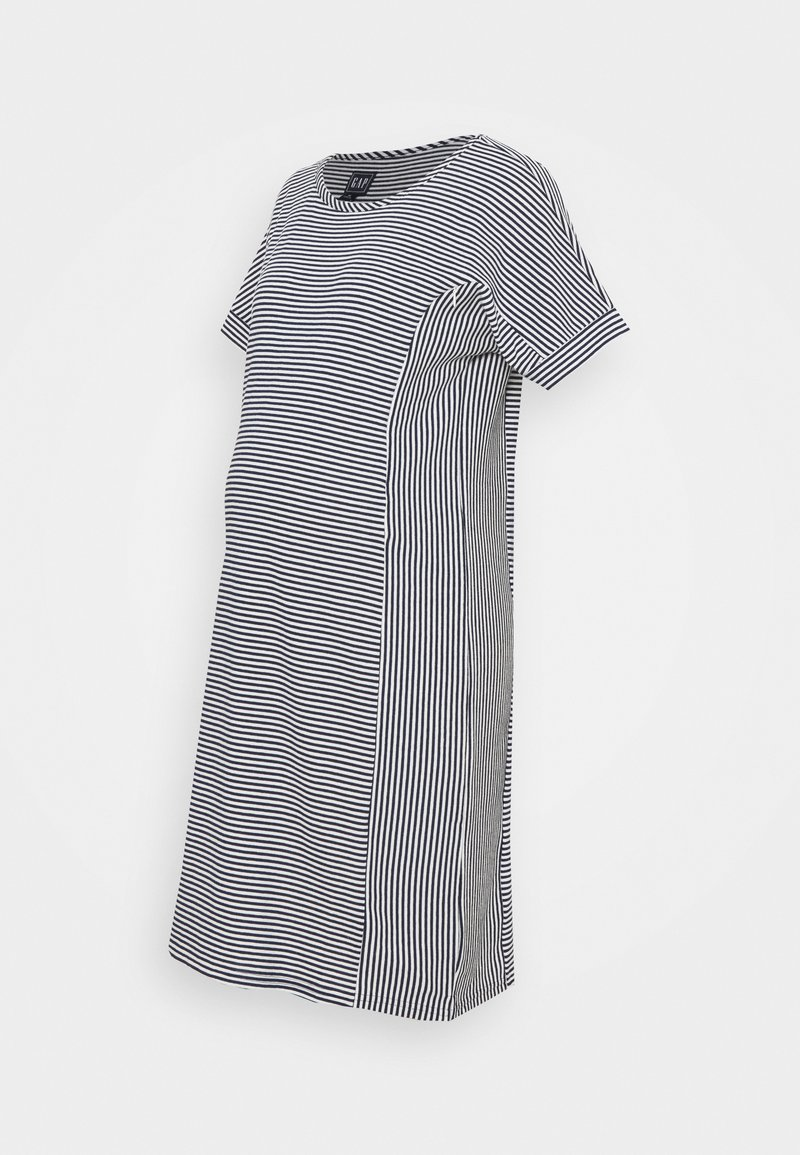 GAP Maternity - ROLL CUFF ZIP ACCESS NURSING DRESS - Jumper dress - navy/white